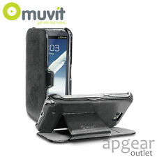 Genuine MUVIT SAMSUNG GALAXY NOTE 2 supporto pieghevole nero MUSSL 0082 Custodia Cover Telefono