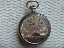 beautifull Hebdomas style Exhibition 8 day pocket watch exposed balance