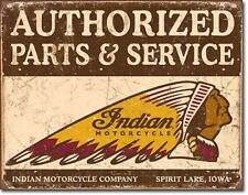 Indian Motorcycle Parts and Service USA Motorrad Vintage Emblem Metall Schild