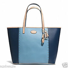 Coach Bag F31325 Metro Colorblock Stud Tote Ocean Chambray Agsbeagle COD