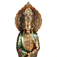 "KWAN YIN ROSARY STATUE 15"" Bronze Buddha HIGH QUALITY Guan Prayer Bead Buddhist"