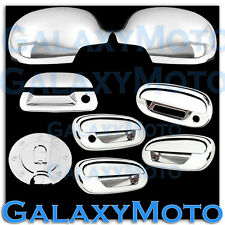 97-03 Ford F150 Chrome Mirror+4 Door Handle+Keypad+w/PSG KH+Tailgate+GAS Cover