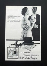 F522 - Advertising Pubblicità - 1953 - ATKINSONS , ENGLISH LAVENDER GOLD MEDAL