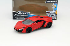 Lykan hypersport de la película Fast and Furious 7 2015 rojo 1:24 jada Toys