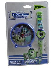 MONSTERS UNIVERSITY DIGITALE OROLOGIO DA POLSO & SVEGLIA SET REGALO - NUOVO