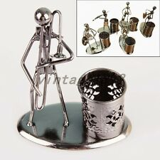 Iron Art Pen Container Writing Holder Pencil Cup Home Office Desktop Decor Gift