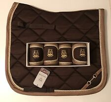 Lauria Garrelli Golden Gate Bit-Matchy Matchy Set-Dark Brown-Saddle Pad-Bandages