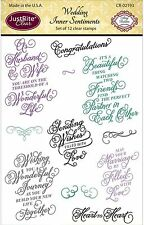 WEDDING Stamp Set Clear Unmounted Rubber Stamps by JustRight CR-02193 NEW