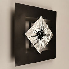 Modern Abstract Metal Wall Sculpture Art Painting Home Decor Contemporary Silver