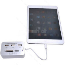 3 USB Hub Card Adapter Reader Camera Connection Combo Kit For iPad 4/Mini/Air