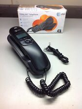 AT&T Black TRIMLINE TELEPHONE TABLE WALL MOUNT TR1909 NO AC POWER NEEDED