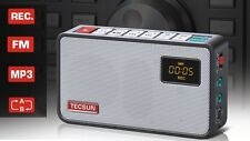 TECSUN ICR-100 Portable FM Radio with Digital Recorder MP3 Player + 2GB SD Card