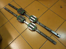 HYWIN LINEAR RAILS and BEARINGS - HGW20CC + HGR-R 650mm long - 2 Pairs Qty Avail