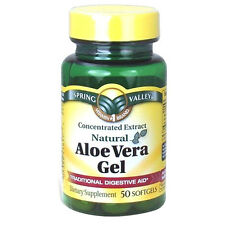 Spring Valley Aloe Vera Pills Softgels 25mg 50 count
