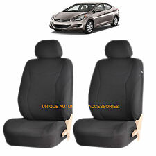 BLACK SPEED AIRBAG COMPATIBLE FRONT LOWBACK SEAT COVERS SET FOR ELANTRA ACCENT