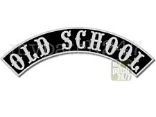 Aufnäher Biker Patch -OLD SCHOOL- Bogen oben 35cm gestickt,Top Rocker Kutte MC