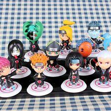 11 pcs a set Japan Anime Naruto PVC Figure Q Edition Pendants Toys TN489