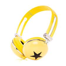 Lightweight DJ Headphones Headsets for Girls Childrens Kids Boys Teens Yellow