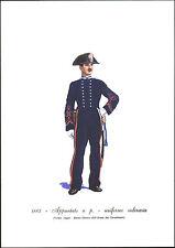 STAMPA UNIFORMI STORICHE -CARABINIERE APPUNTATO A PIEDI -UNIFORME ORDINARIA 1883