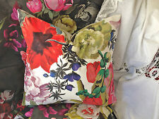 "DESIGNERS GUILD ORANGERIE FABRIC CUSHION COVER 18x18"" Alabaster reverse"