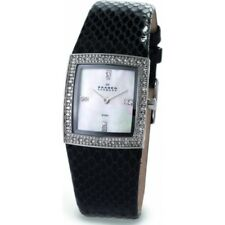 WOMEN'S SKAGEN DENMARK 608SSLB8 MOTHER OF PEARL & STONES WATCH  w/ LEATHER STRAP