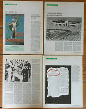 LOS ANGELES 1932 Olympic Games 8 page article clippings photos magazine