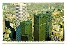 Downtown Core Toronto Canada Postcard From CN Tower Ontario Sky Pod Unposted