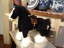"Disney Store Pixar Brave ANGUS Merida's Horse Clydesdale Black Large 17"" Plush"