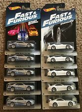 HOT WHEELS 2017 FAST AND FURIOUS  EXCLUSIVE LOT OF 10, NISSAN SKYLINE & SUPRA