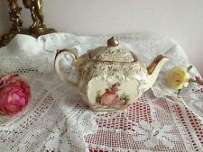 VINTAGE SADLER PINK CRINOLINE LADY GILDED CHINTZ small Teapot