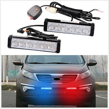 Front Grille Warning Emergency Beacon Strobe Flash LED Light Lamp Bar Universal
