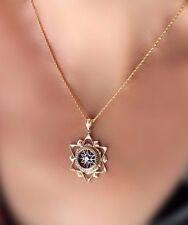 New handmade 14K Gold Star of David Pendant Diamond Filigree blue enamel unisex