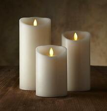 """2016 New Flameless Candle 3"""" Classic Pillar Ivory Vanilla Scented Remote 3pcs"""
