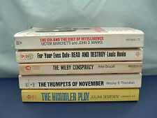 Spy thriller 5 paperback vintage hard to find titles for your eyes only, the CIA