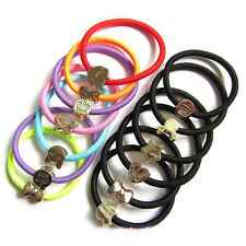 10pcs Women Elastic Hair Ties Band Ropes Ring Ponytail Holder Accessories Hot