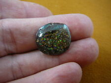 (O-147-A) Brown tan oval green flash sparkle Yowah opal loose stone Australia