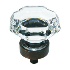 Cosmas 5268ORB-C Oil Rubbed Bronze & Clear Glass Cabinet Knob