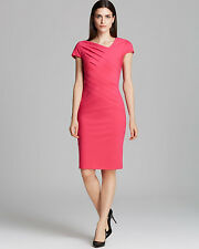 Womens ESCADA Pink Jersey Donde Ruched Shift Wiggle Pencil Dress Sz 36 US 6 $975