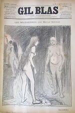 JOURNAL GIL BLAS N° 10 de 1893 SCHWOB RICHEPIN DESSIN STEINLEN  MUSIQUE BREYDAN