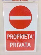 CARTELLO PVC 20X30 CM CON ADESIVO PROPRIETA' PRIVATA