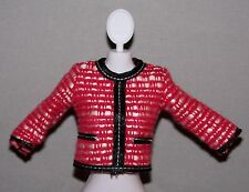 Barbie Doll Clothes Fashionista Dreamhouse Red Boucle Dress Top Shirt