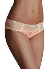 M&S COLLECTION Women's Nude Mix Lace Low Rise Brazilian Knicker Size UK 12 BNWT