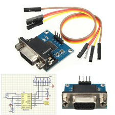 RS232 To TTL Converter Module Serial Module DB9 Connector 3.3V-5.5V Arduino