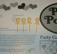 4 YELLOW BALLOON REPLACEMENT EXTRA FOR POLLY POCKET 1994 PARTY GAME PARTS PIECES