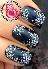 NAIL ART WATER TRANSFERS STICKERS DECALS DECORATION SET WHITE MINI ROSE #445