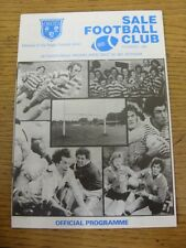 11/12/1982 Rugby Union Programme: Sale v Waterloo [Northern Merit Game] (team ch