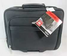 "Samsonite Wheeled Business Case Black Polyester 934865 Laptop 16"" Travel Bag NWT"