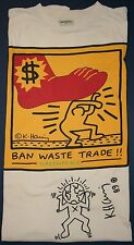 KEITH HARING ORIGINAL HAND SIGNED INK DRAWING 1/1world greenpeace 1989 VERY RARE