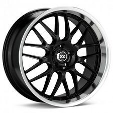18x7.5 Enkei LUSSO 5x114.3 +42 Black Rims Fits Veloster Mazda Speed 3
