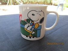 SNOOPY MY MUG BOSS OFFICE TELEPHONE CALLS WOODSTOCK JAPAN UFS 1958,1965 10OZ